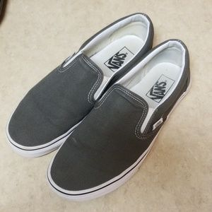 Vans Classic Slip On Charcoal Gray